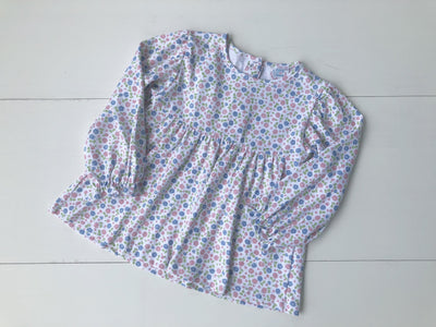 Girl Pima Floral Top