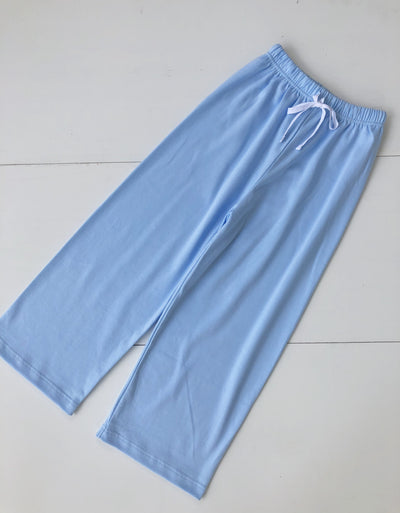 Unisex Pima Play Pant with Drawstring in Blue