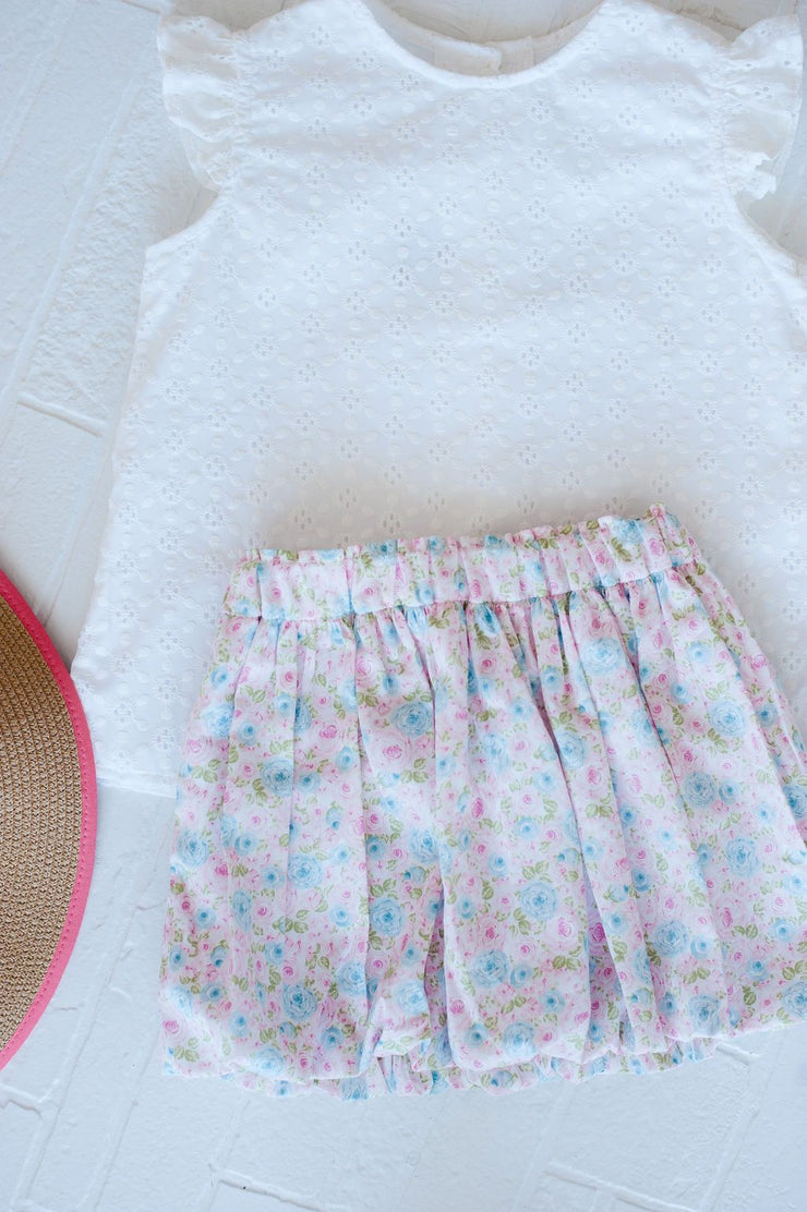 Bubble Skirt in Grace Floral, Fully Lined