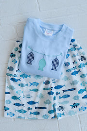 Boy Pocket Short in Blue Fish