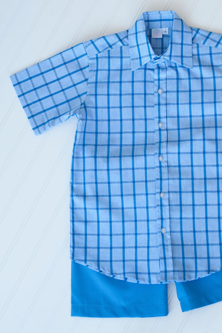 Hammond Top in Breezy Blue Plaid