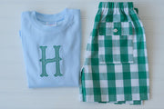 Boy Pocket Short in Large Kelly Check