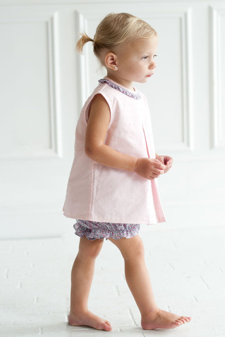 Girl Bloomer in Pink/Aqua Liberty
