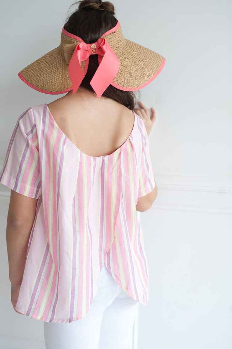 Maxwell Top in Pink Sea Island