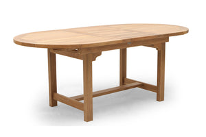 "74Lx94"" Oval Extending Dining Table"