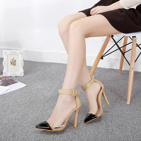 Pointed Toe Apricot Pump Heel