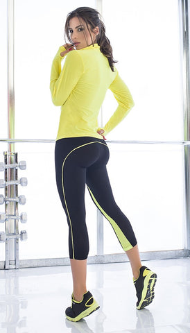 Yellow Activewear Capri Set