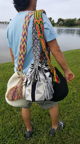 Discover the Authentic Handmade Colombia Mochila Wayuu bags.