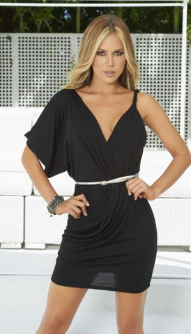 Black Drapes Little Dress