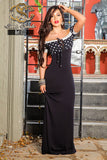 Strapless Polka Dot Maxi  Dress