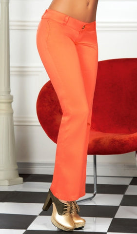 Classic Tangerine Woman Straight Boot Pants