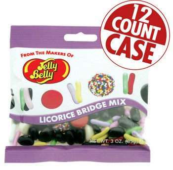 Jelly Belly Jelly Beans Bags Licorice Bridge Mix (12-3 oz)