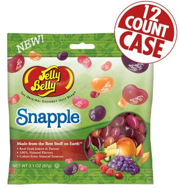 Jelly Belly Jelly Beans Bags Snapple Mix (12-3.1 oz)