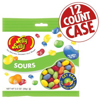 Jelly Belly Jelly Beans Bags Sours (12-3.5 oz)