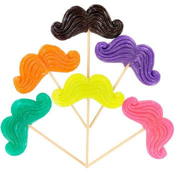 Mustache Candy Pops (12 ct)