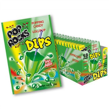 Pop Rocks Dips Sour Apple (18 ct)