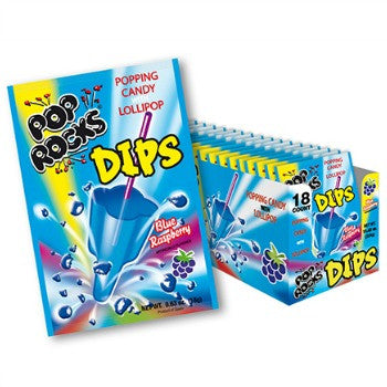 Pop Rocks Dips Blue Raspberry (18 ct)