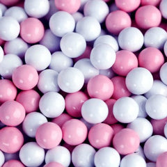 Sixlets Mini Chocolate Balls Light Pink & White