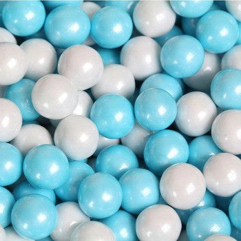 Sixlets Mini Chocolate Balls Shimmer Blue & White