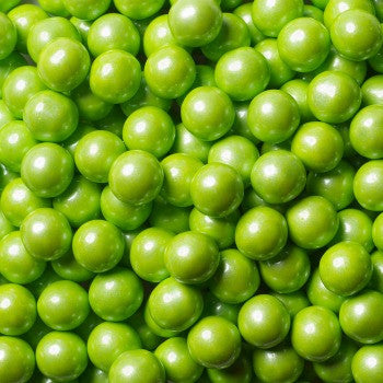 Sixlets Mini Chocolate Balls Shimmer Lime Green