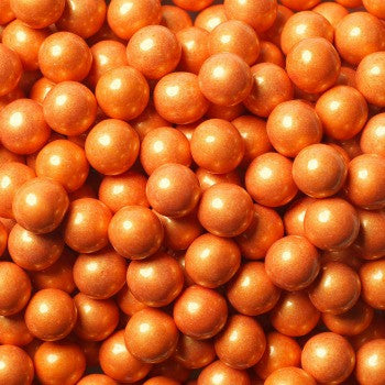 Sixlets Mini Chocolate Balls Shimmer Orange