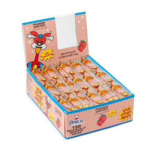 Sour Power Belts Strawberry Wrapped (150 ct)