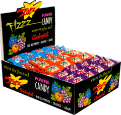 Zotz Blue Raspberry, Orange, Grape (48 ct)