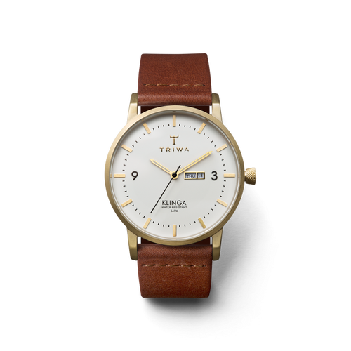 TRIWA Watches - Ivory Klinga (Gold/ White/ Brown)