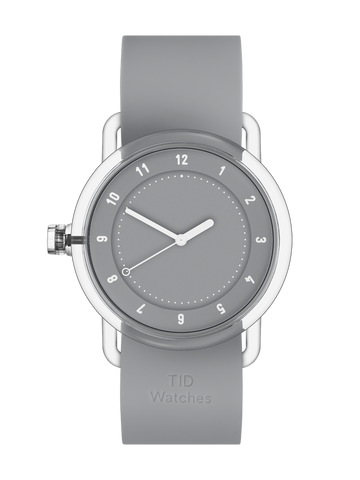 TID Watches - No.3 TR90 Grey / Grey Silicone Wristband  Ø38