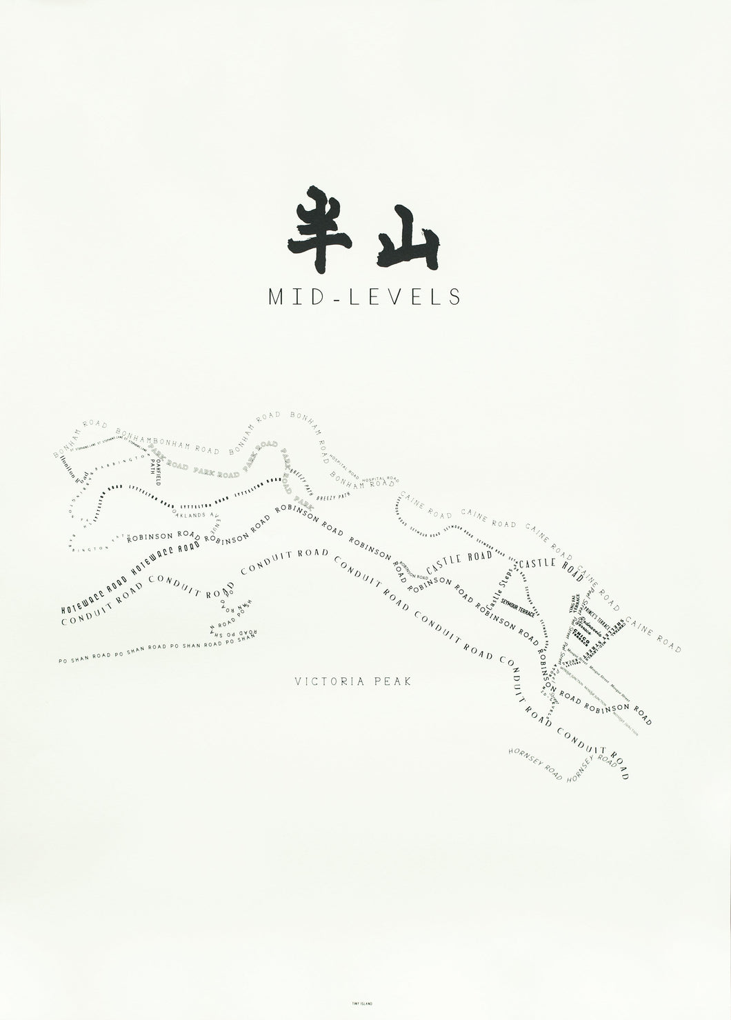Mid-Levels Offwhite map