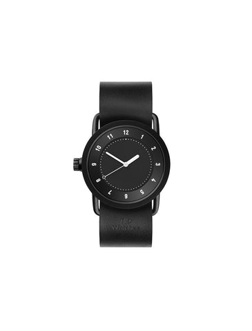 TID Watches - No.1 36 Black / Black Leather Wristband