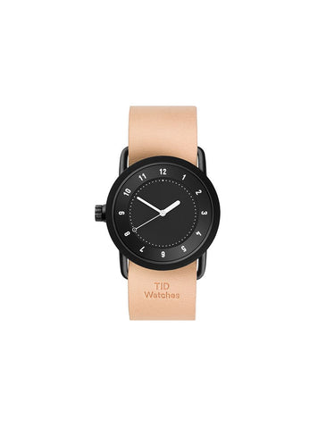TID Watches - No.1 36 Black / Natural Leather Wristband