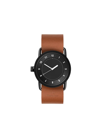 TID Watches - No.1 36 Black / Tan Leather Wristband