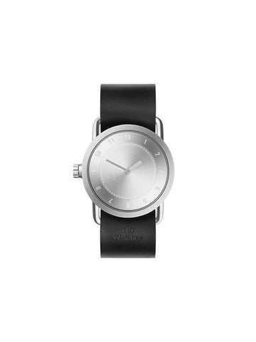 TID Watches - No.1 36 Steel / Black Leather Wristband