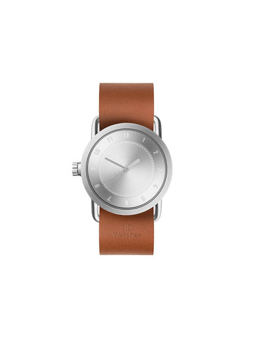 TID Watches - No.1 36 Steel / Tan Leather Wristband