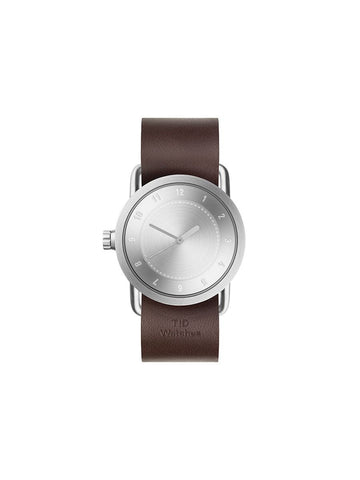 TID Watches - No.1 36 Steel / Walnut Leather Wristband