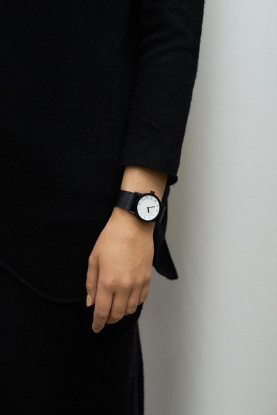 TID Watches - No.1 36 White / Black Leather Wristband