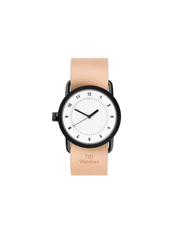 TID Watches - No.1 36 White / Natural Leather Wristband
