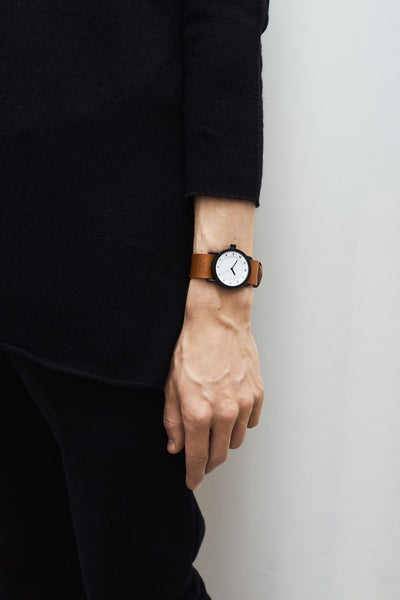 TID Watches - No.1 36 White / Tan Leather Wristband