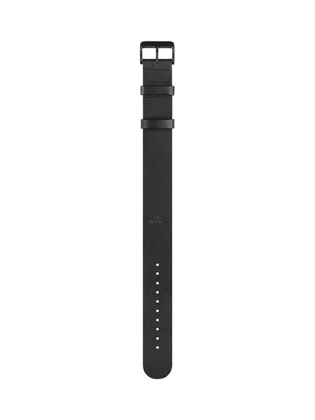 TID Watches - No.1 White / Black Leather Wristband