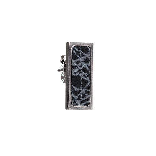 Virrvarr Rectangle Small Earring (Dark)