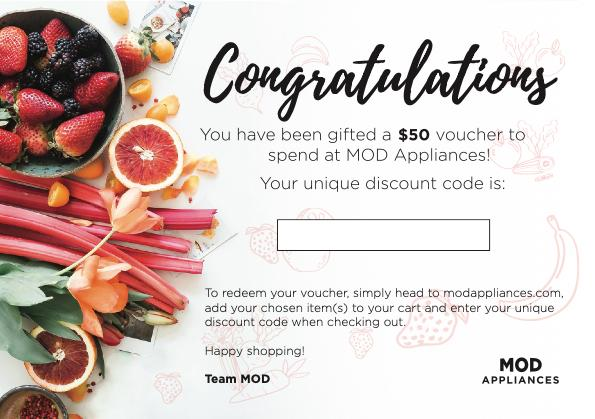 Gift Card - $50 - Mod Appliances Australia