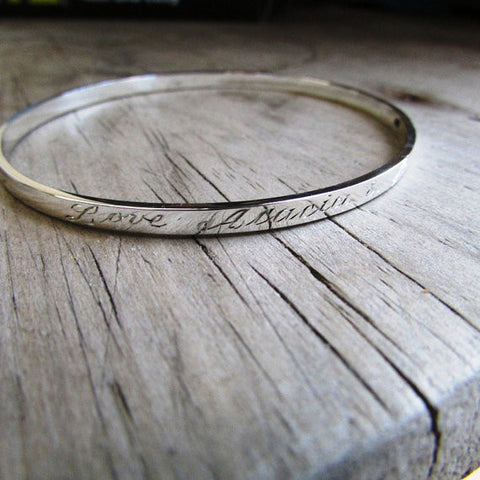 Engraved bangle - Delivery in January on this item.