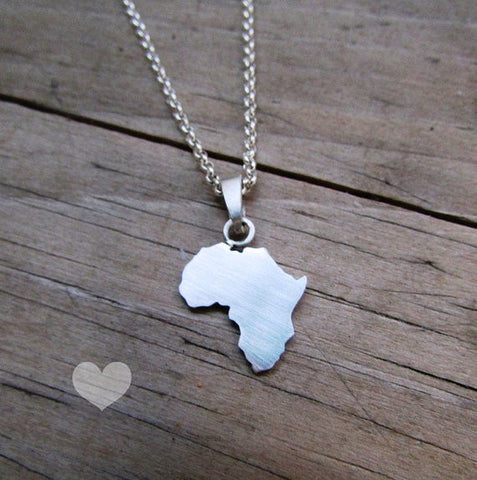 Silhouette necklace: Africa necklace