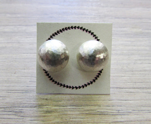 Domed textured stud earrings