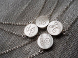 Perosnalized initial monogram necklaces