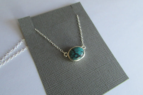 Oval turquoise necklace - 1 of 3 in stock