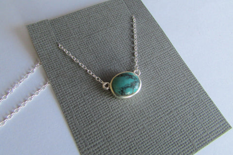 Oval turquoise necklace - no.2 of 3 in stock