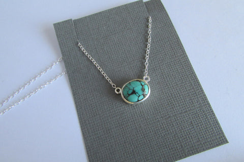 Oval turquoise necklace - no.3 of 3 in stock
