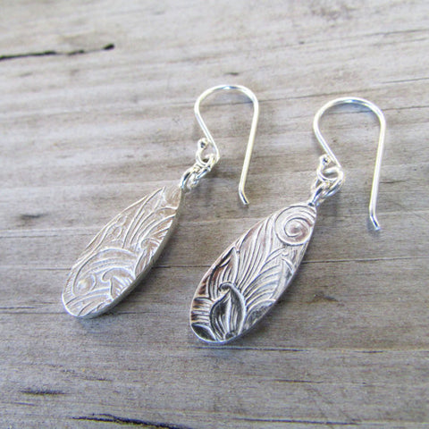 Pattern hook earrings